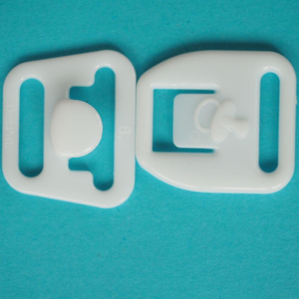 Zapínání mateřské, průvlek 15 mm, bílé a černé