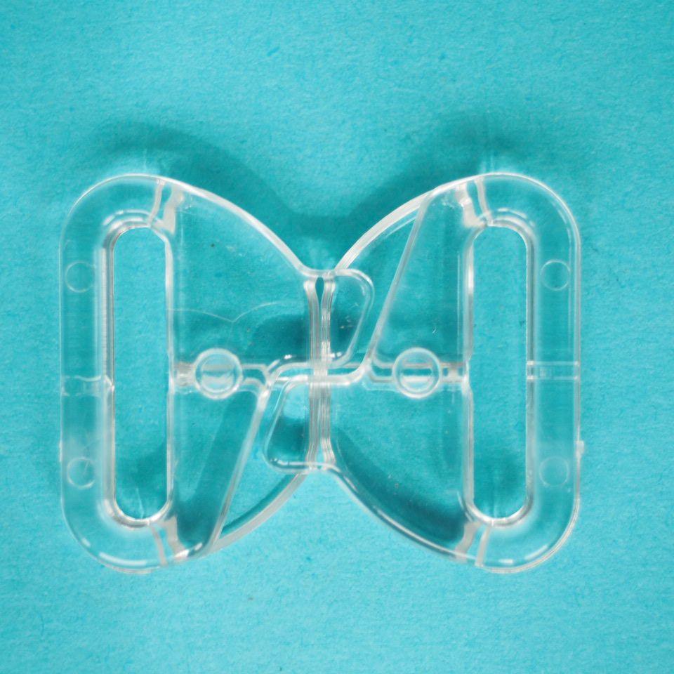 Zapínání plavkové, průvlek 15mm, transparentní