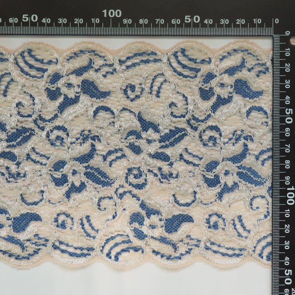 krajka elastická 456306 modrá/smetanová