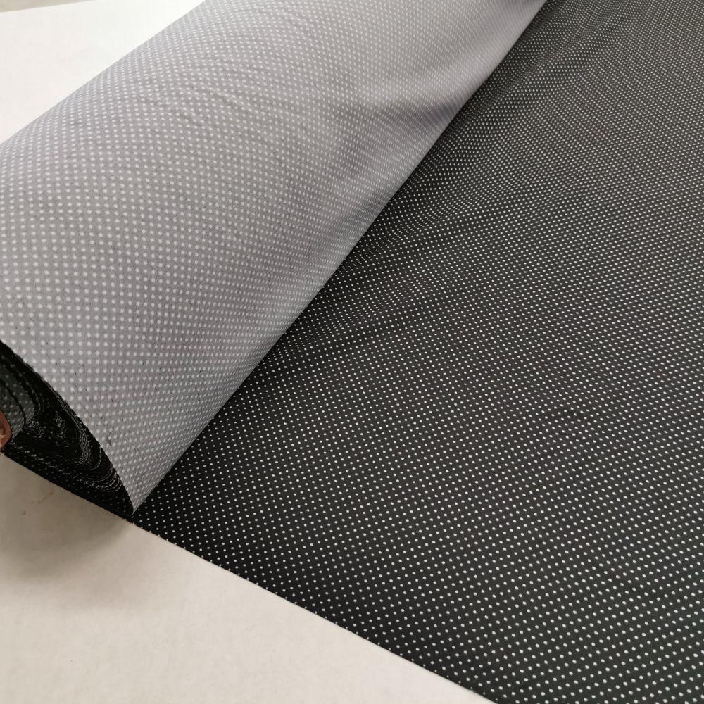 úplet elastický art. MALAGA des.8035 (černo-bílý puntík)