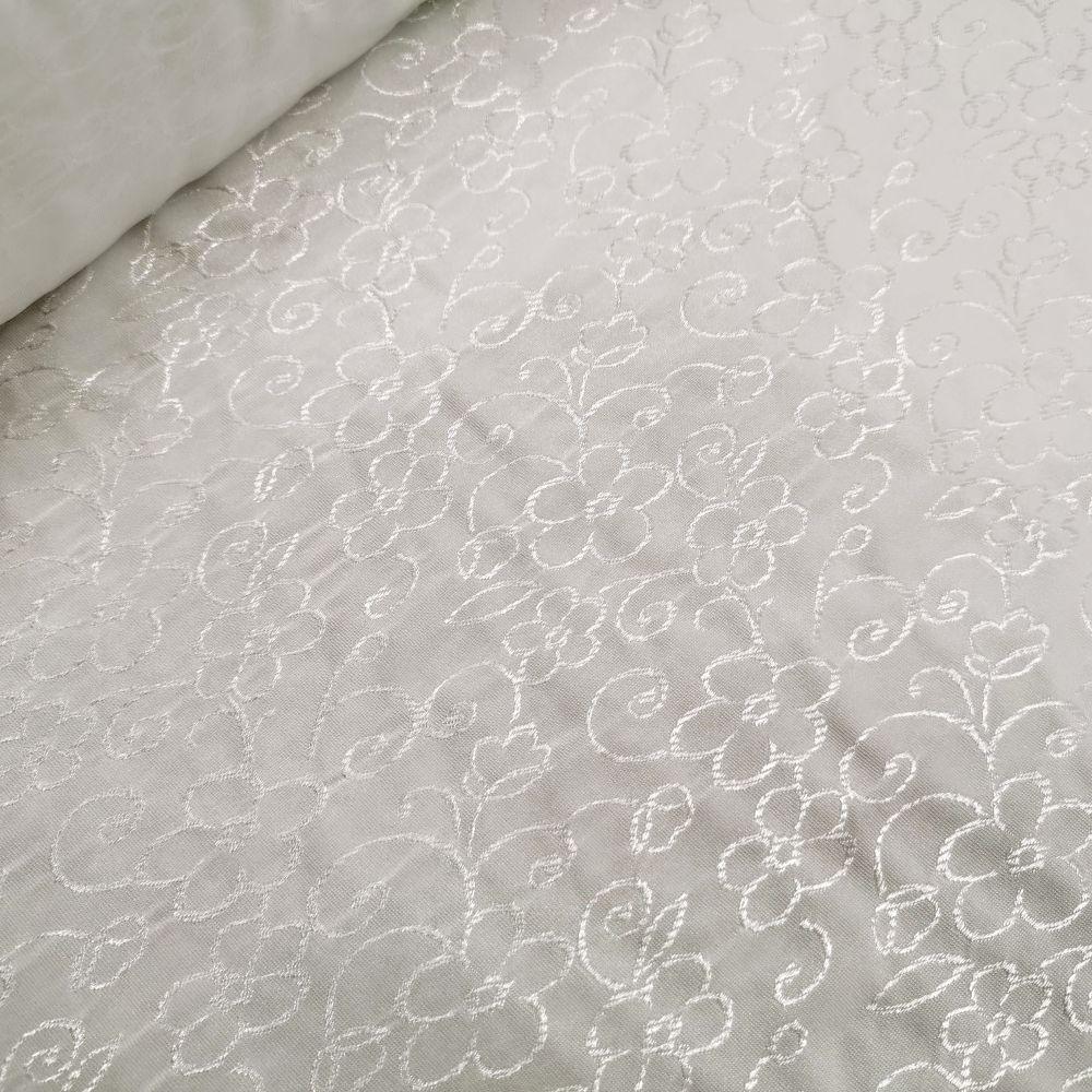 elastický úplet 10584/19 bílý