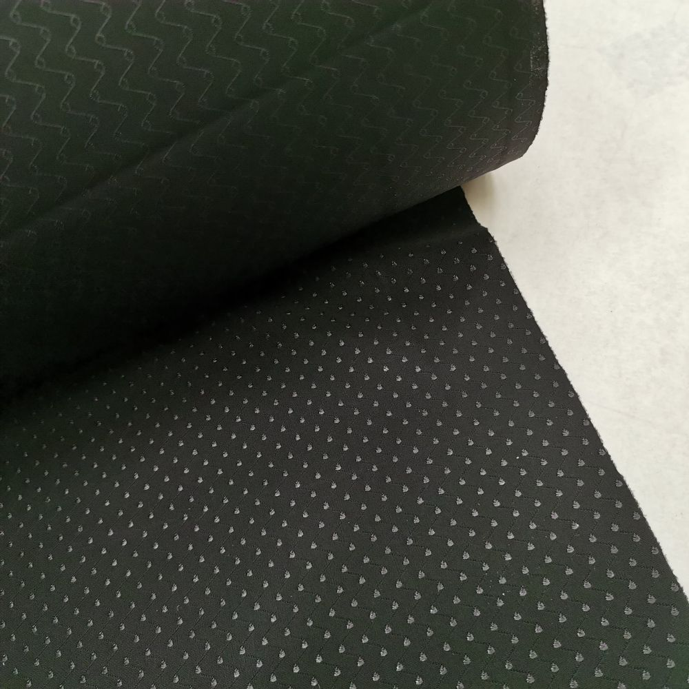 elastický úplet 1063 - černá, bílá