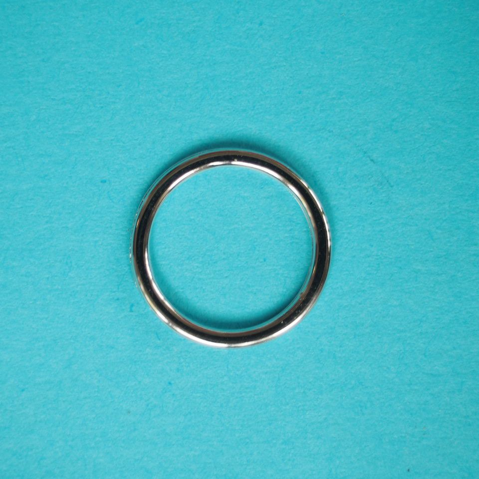 kovové kroužky stříbrné 12 mm