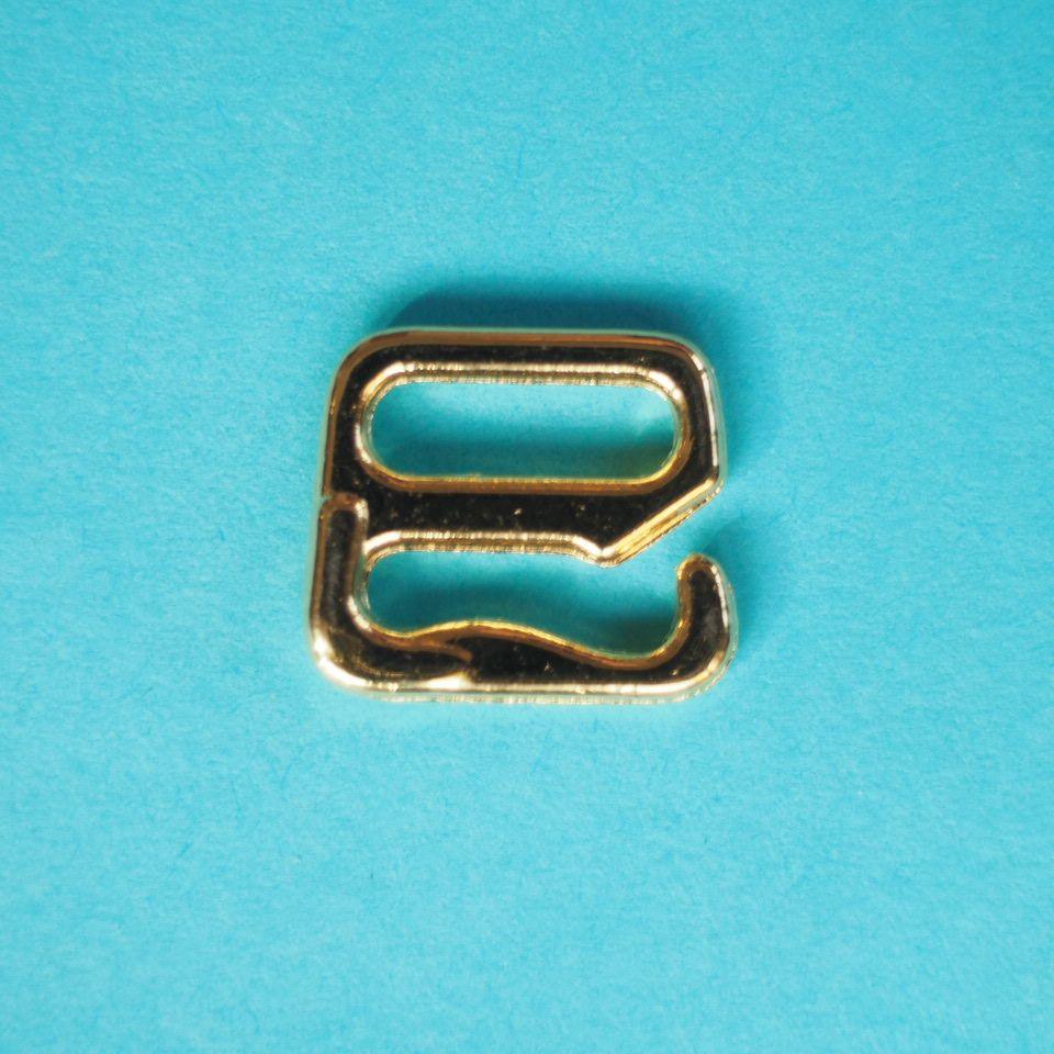 kovové háčky 10 mm zlaté