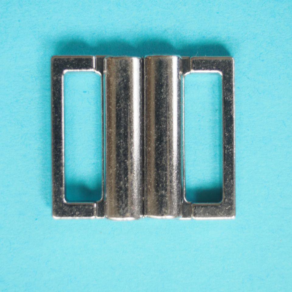 zapínání plavkové (click) 15 mm stříbrné