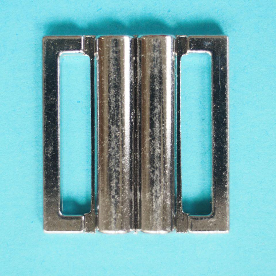 zapínání plavkové (click) 20 mm stříbrné