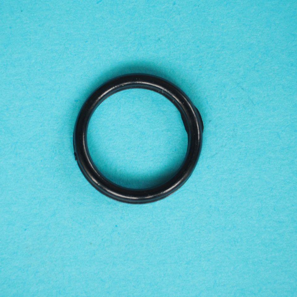 kroužek plastový vel. 12 mm bílý, černý