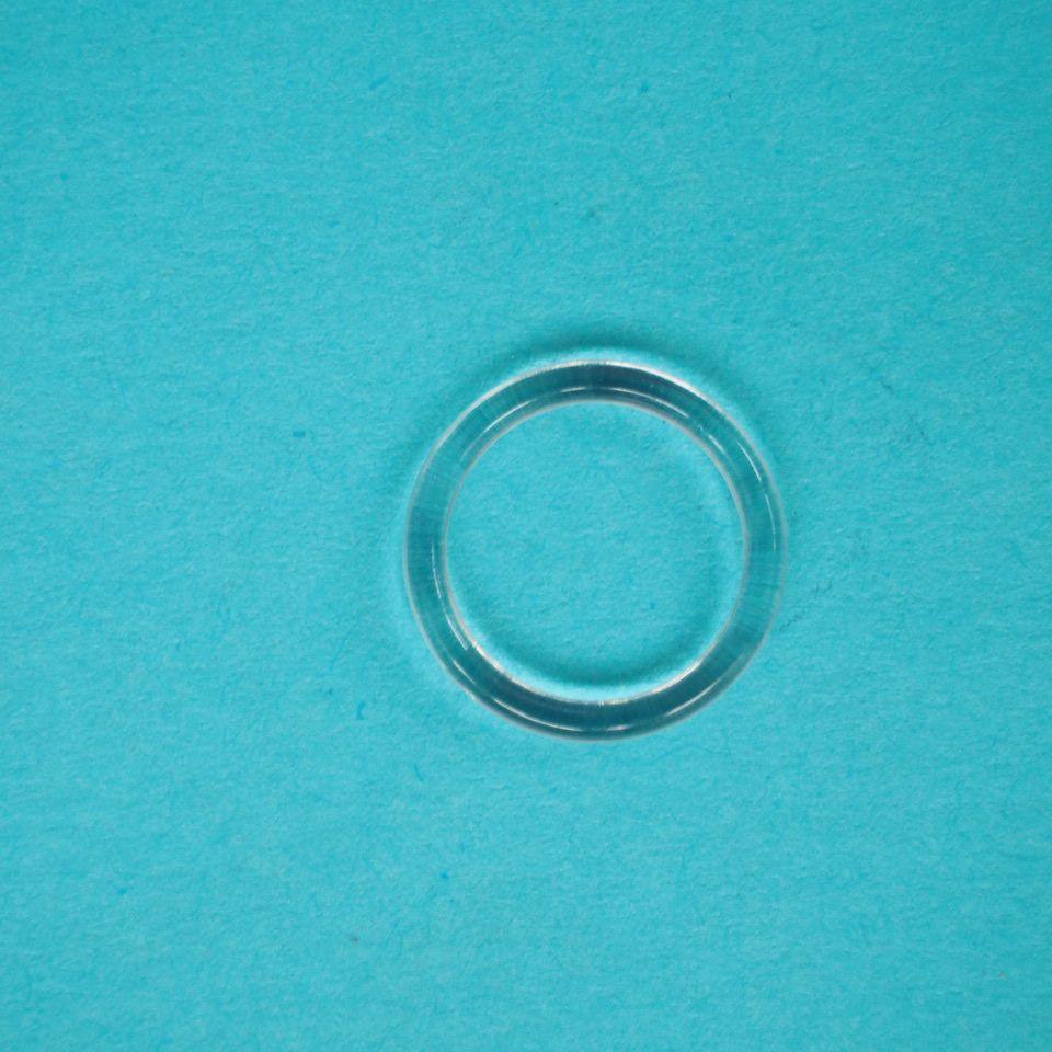 kroužek plastový vel. 10 mm, transparentní